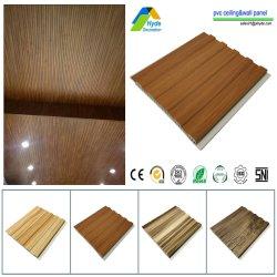Largura 200mm/250mm/300mm/400mm estratificados 3D Ignifugação falso de PVC Placa de Parede Folha e painel de PVC