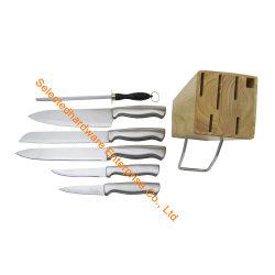 7PCS het houten Mes van de Keuken van het Blok van het Mes Vastgestelde