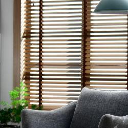Fsc venecianas Persianas de PVC de 50mm persianas de madera maciza