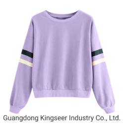 Пользовательский графический длинной втулки блуза T футболки неплотные женщин на крышах культуры фиолетовый футболка