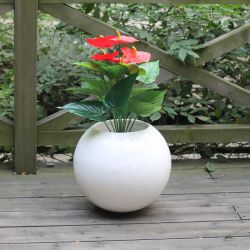 Fo186球形のガラス繊維プランター耐久の庭の装飾の植木鉢