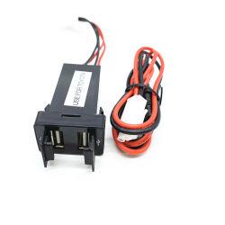 아주 새로운 12/24V Dual USB Ports Dashboard Mount Car Charger Adapter
