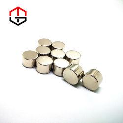 스피커용 작은 마그네틱 원통형 영구 네오디뮴 NdFeB 자석