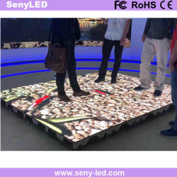 P6.25мм Водонепроницаемый светодиодный видео полу с помощью интерактивной системы