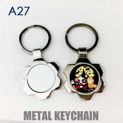 Сублимация пробелы Keyring Версия для печати металлические Keychains Fordiy передача тепла печать A27