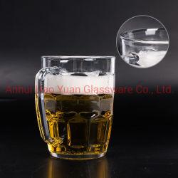 Jarra de cerveza al por mayor de vaso de plástico transparente taza de jugo de Café Taza de agua con asa