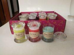 1.5Oz coloridas velas aromáticas de vidrio mini pantalla 12pzas Box Set