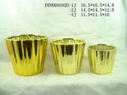 Золотые и серебряные керамические Electroplate цветочный сеялки