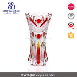 Surtido de colores y decoración de flores de vidrio esmerilado florero de vidrio