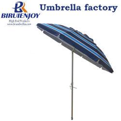 Nouveau design 1.8M 2.4M Twist-dans Stripe Parasol avec évent imprimé en haut