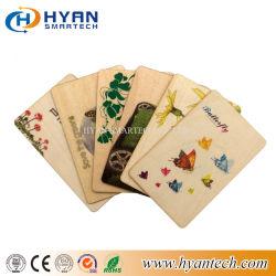 Scheda di legno stampata ecologica di vendita calda della fabbrica 13.56MHz RFID/NFC della Cina per la promozione di marca