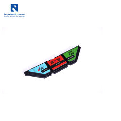 Firmenzeichen druckte Fabrik kundenspezifische Stoss-Tastaturblock-Schalter-Silikon-Taste
