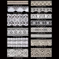 Artesanato de costura de fita de guarnição de renda de crochê de algodão puro