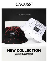 Cacuss personalizados cuchara de algodón Hat, Floral Fishman Hat verano, primavera, otoño de la tapa