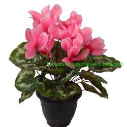 Fiore artificiale Cyclamen delle filiali artificiali all'ingrosso del fiore 18 della Cina per la decorazione domestica
