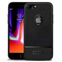El TPU Teléfono de cuero de fibra de carbono de los casos para el iPhone 7plus /8plus