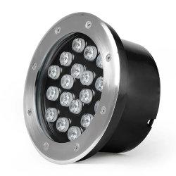 원형 IP67 304 스테인리스 스틸 86mm 직경 24W 매입형 LED Ln Ground Light