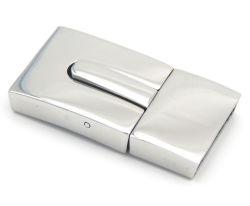 Bijou en gros trouvant l'agrafe plate magnétique d'acier inoxydable de couleur d'or pour le bracelet en cuir