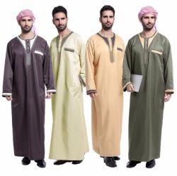 Tr tela poliéster viscosa EAU Thobe tejido saudita túnica de tela