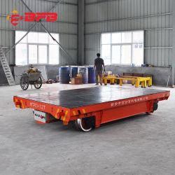 Carrello piano motorizzato elettrico di trasferimento di maneggio del materiale del magazzino di tonnellate Kpd-60 sulla ferrovia