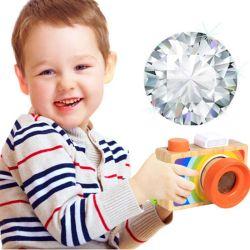 Houten camera Toy Multi Prism kinderen Reiscamera kinderen Educatief Speelgoed cadeau (GY-W0048)