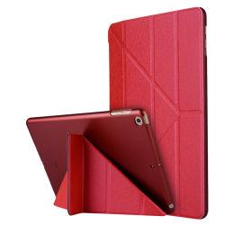 Vente à chaud de la soie de tablette escamotable magnétique d'impression Housse pour iPad 9.7 2017