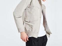 偶然の方法綿の特大コートのジャケット