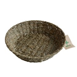 Handmade 저장을%s 라운드에 의하여 길쌈되는 자연적인 시골풍 Seagrass 서빙 쟁반 바구니