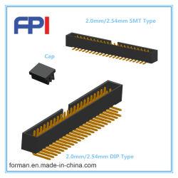 Embase pour connecteur PCB type et de type CMS DIP