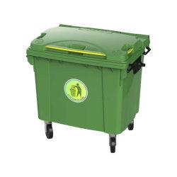 4動かされたゴミ箱800リットルのHDPEのプラスチック屑不用な大箱