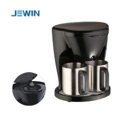 가구 커피 양조자 에스프레소 커피 메이커를 봉사하는 2개의 컵