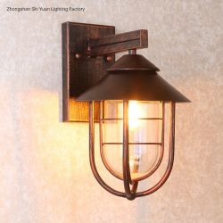 Im Freien Aluminiumweinlese-klassische Messingwand-Lampe UL-ETL