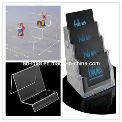 Rack d'épices en plastique plexiglas Affichage du menu Affichage de cosmétiques en plexiglas