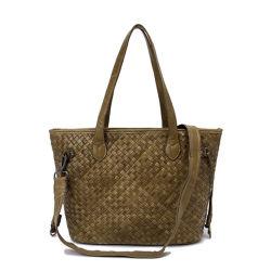 Het Leer van het Weefsel van de Goede Kwaliteit van het Ontwerp van de manier de Beurs van Dame Shoulder Bag Tote Bag Vrouw