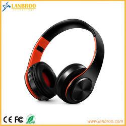 Compatível com fone de ouvido sem fio Bluetooth dobrável computador/mobile/TV/TF Micro SD Card