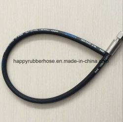 Norma DIN EN 853 único fio de aço reforçado trançado de Mangueira Hidráulica R1/1sn