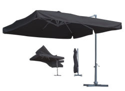 3M 알루미늄 실외 정원 파티오 우산, 브래킷 실외 대형 야외 태양 우산