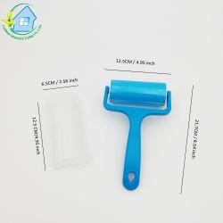 Lavable reutilizable de gel de sílice de rodillo de pelusa pelo de animales Cepillo de limpieza Limpieza de Alfombras de coche limpio Sticky paño cepillo 6210