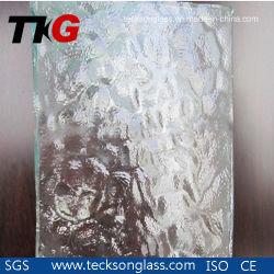 4 mm de verre à motifs Aqualite claire pour la construction de prix de verre
