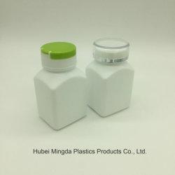 고밀도 폴리에틸렌 PE 애완 동물 손가락으로 튀김 뚜껑을%s 가진 플라스틱 80ml 정연한 플라스틱 용기 단지 병