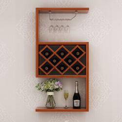 Gaststätte-Wand-hängende Wein-Schrank-europäisches kreatives Wand-Regal-Dekoration-Bücherregal-hängende Wein-Zahnstange