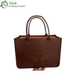 شعر حقيبة يد اللباد ذات سعة كبيرة لحزمة مستندات بسيطة غير معهقة حقائب تحمل شعار مخصص