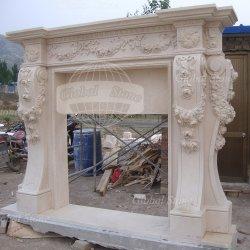 天然石大理石マンテル手彫り大理石の暖炉 (GSMF-125)