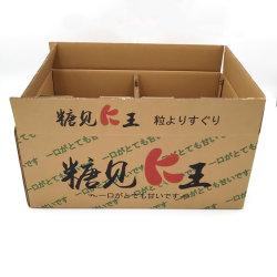 Scatola di carta impaccante di marchio del cartone ondulato del documento della pera del Apple del limone del mango della banana dell'imballaggio arancione su ordinazione dell'ortaggio da frutto