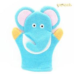 Ванной промойте Mitt мультфильм Терри ткани животных с другой стороны слонов кукольных малыша вымыть тканью ванной Mitt банными полотенцами душ перчатки для детей игрушка для ванной