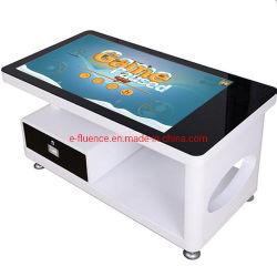 Tudo em Um Smart LCD Touch mesa para café ou restaurante interactiva de personalizar a tela de toque tabela Tabela multitoque com vidro temperado e impermeável