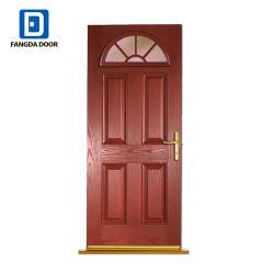 El grano de madera Exterior Fangda puerta Puerta compuesto de fibra de vidrio.