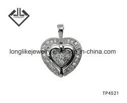 Charme van de Tegenhanger van het Hart van Hotselling de Zilveren Dubbele voor Kerstmis en de Gift van de Valentijnskaart