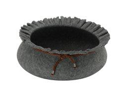流行の花の形円形猫のネスト創造的なハンドメイドペットベッド