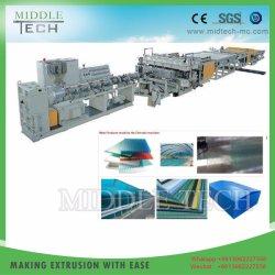 Prix de gros PC en plastique PP feuille/panneau de toiture creuses de la ligne de production d'Extrusion